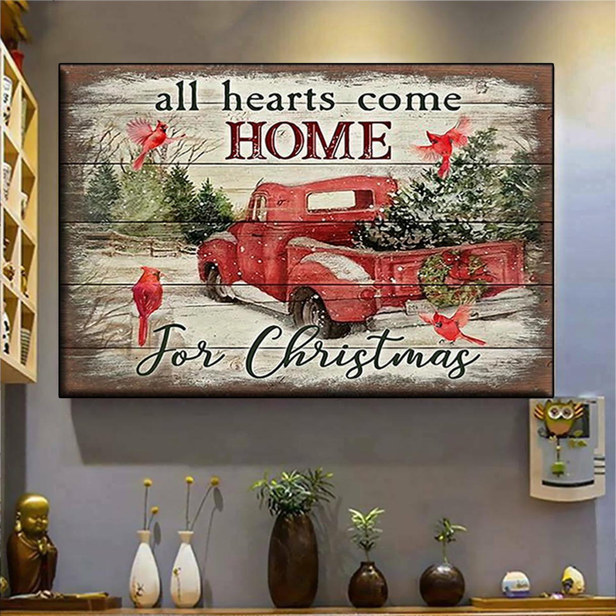 All hearts come home for christmas canvas prints large