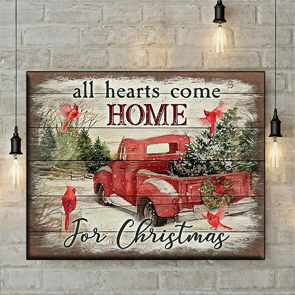 All hearts come home for christmas canvas prints medium