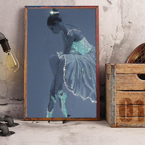 Ballet crystal dress ballerina poster A1