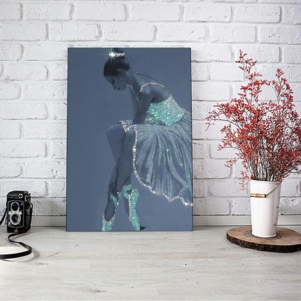 Ballet crystal dress ballerina poster A2