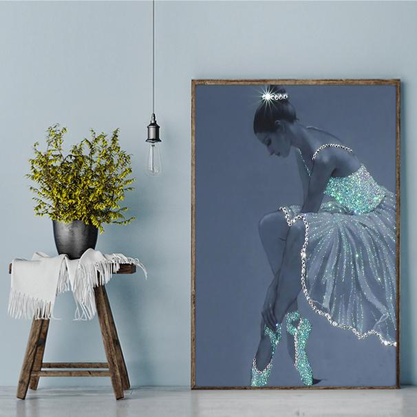 Ballet crystal dress ballerina poster A3