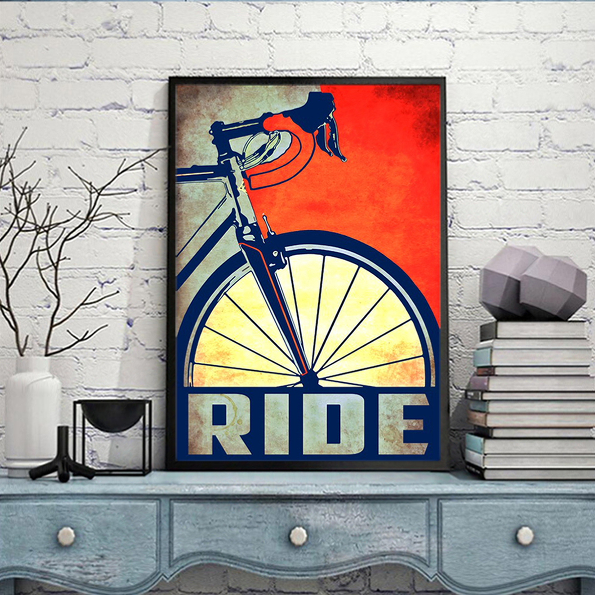 Bicycle ride poster A2