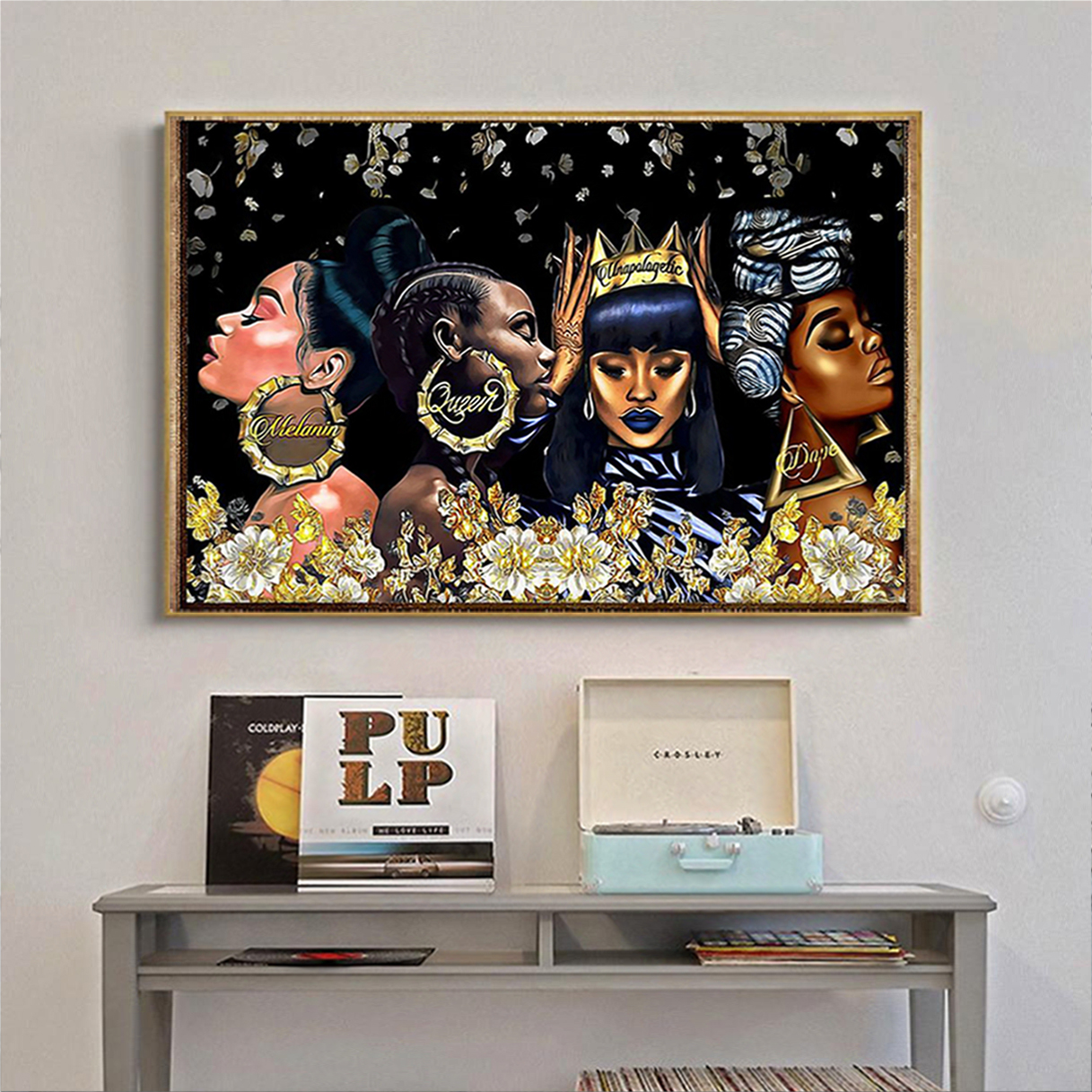 Black woman melanin queen unapologetic dope poster A2