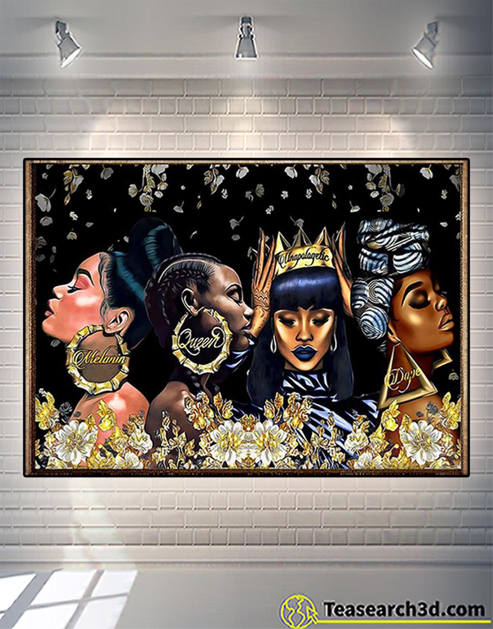 Black woman melanin queen unapologetic dope poster