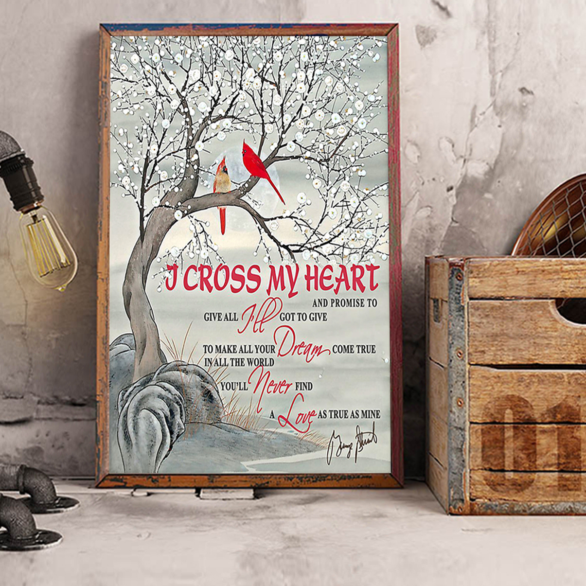 Cardinal I cross my heart and promise to give all poster A2