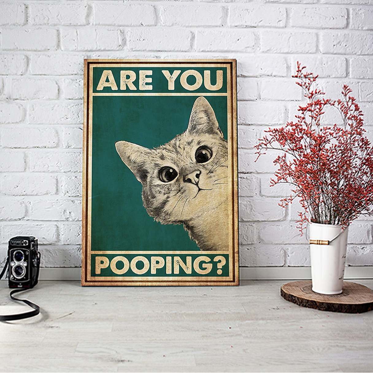 Cat are you pooping poster A3