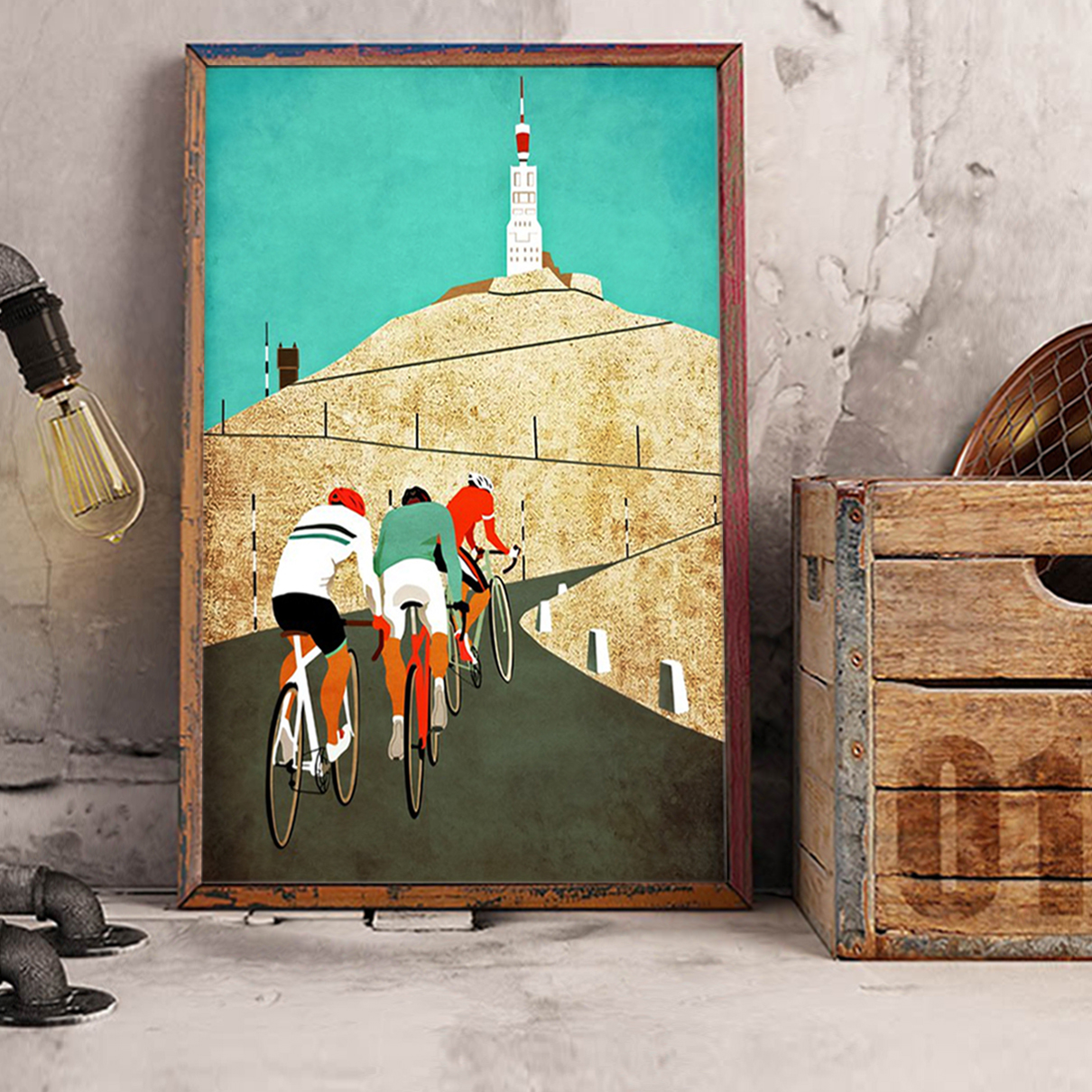 Cycling mount ventoux poster A1