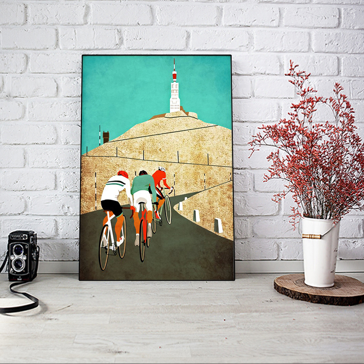 Cycling mount ventoux poster A2