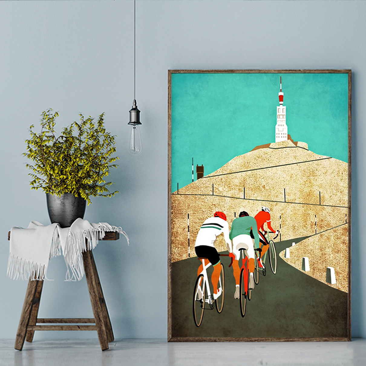Cycling mount ventoux poster A3