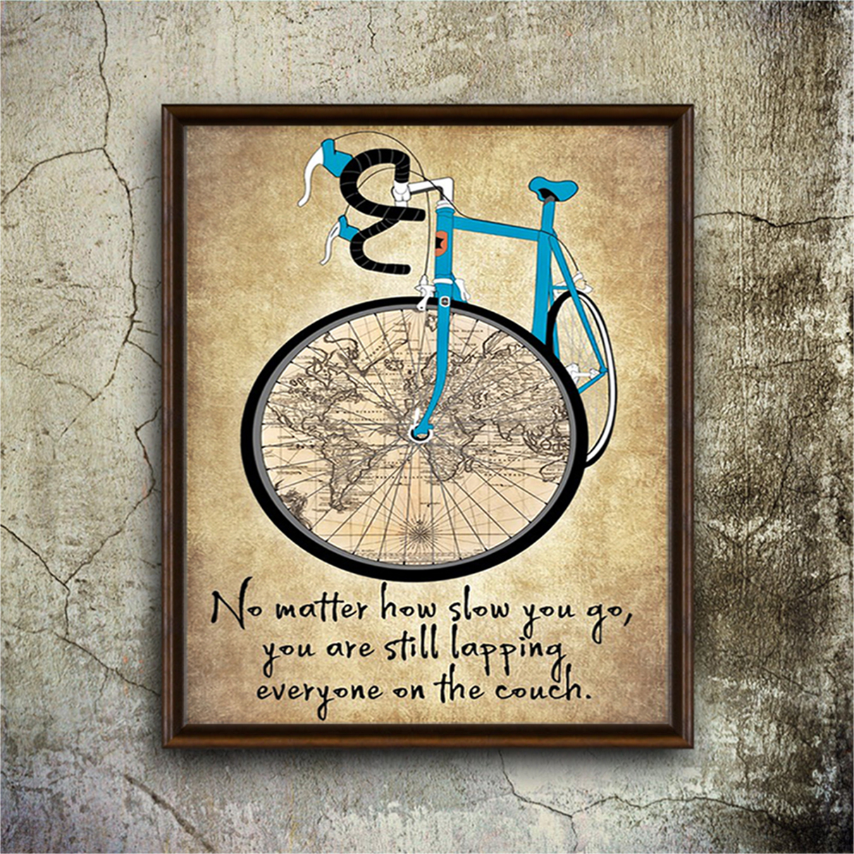 Cycling no matter how slow you go poster A2