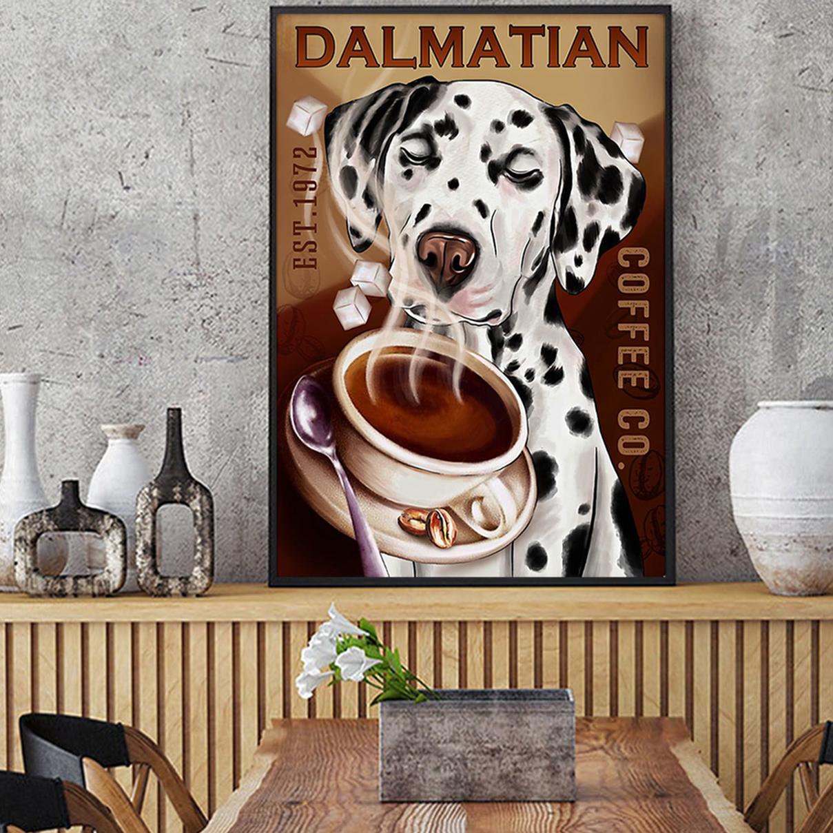 Dalmatian coffee poster A1