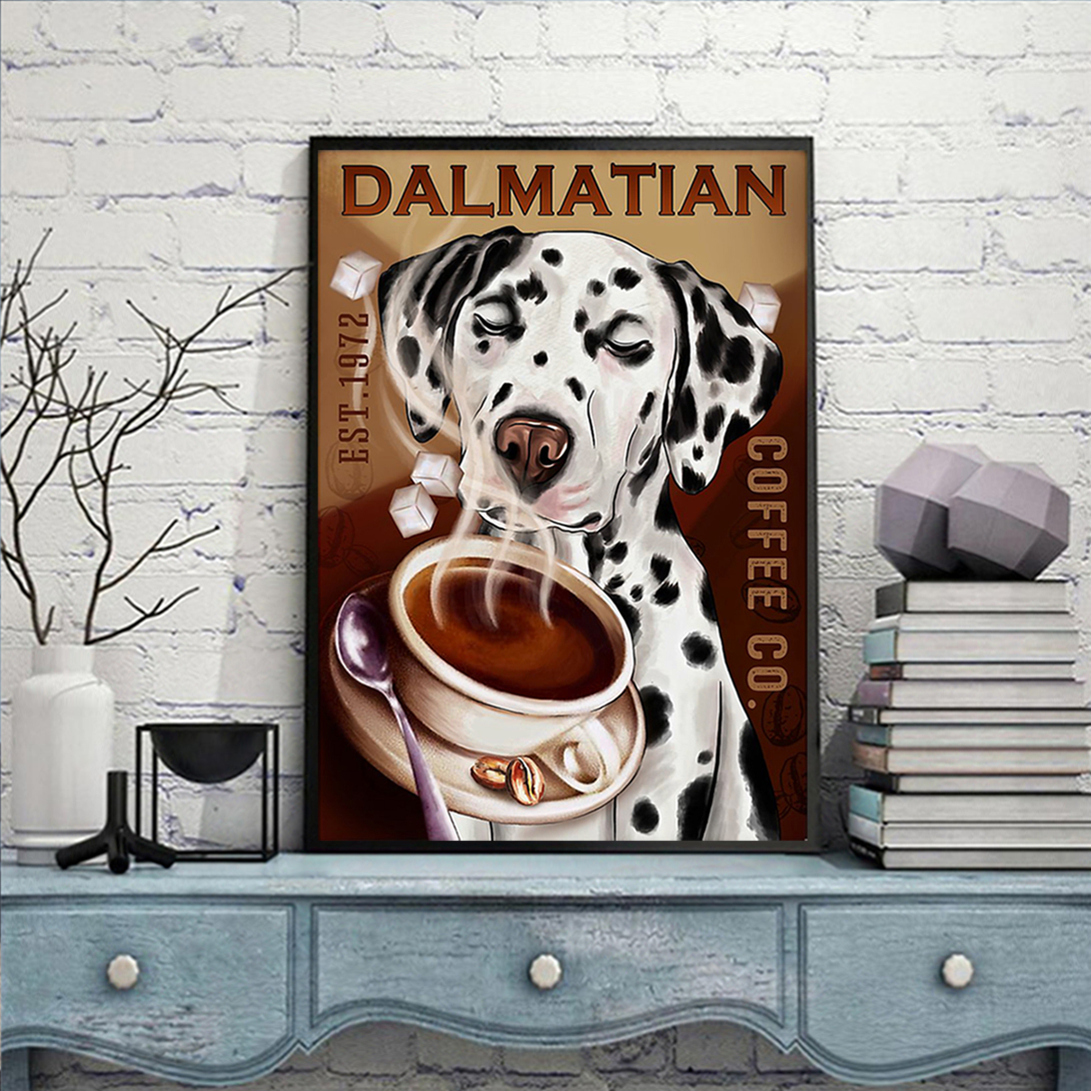 Dalmatian coffee poster A2