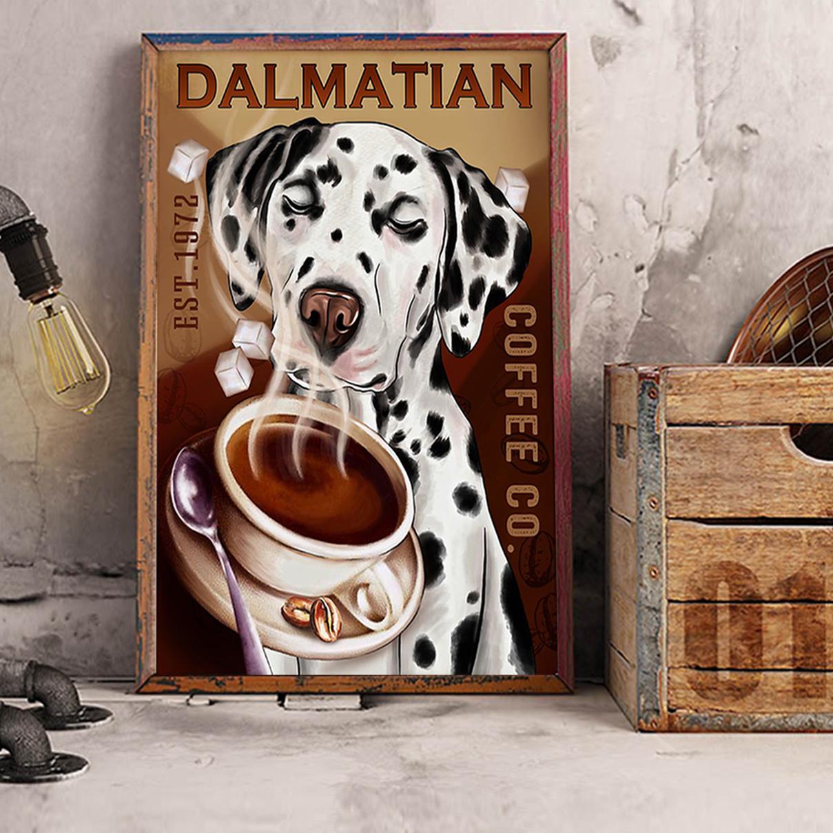 Dalmatian coffee poster A3