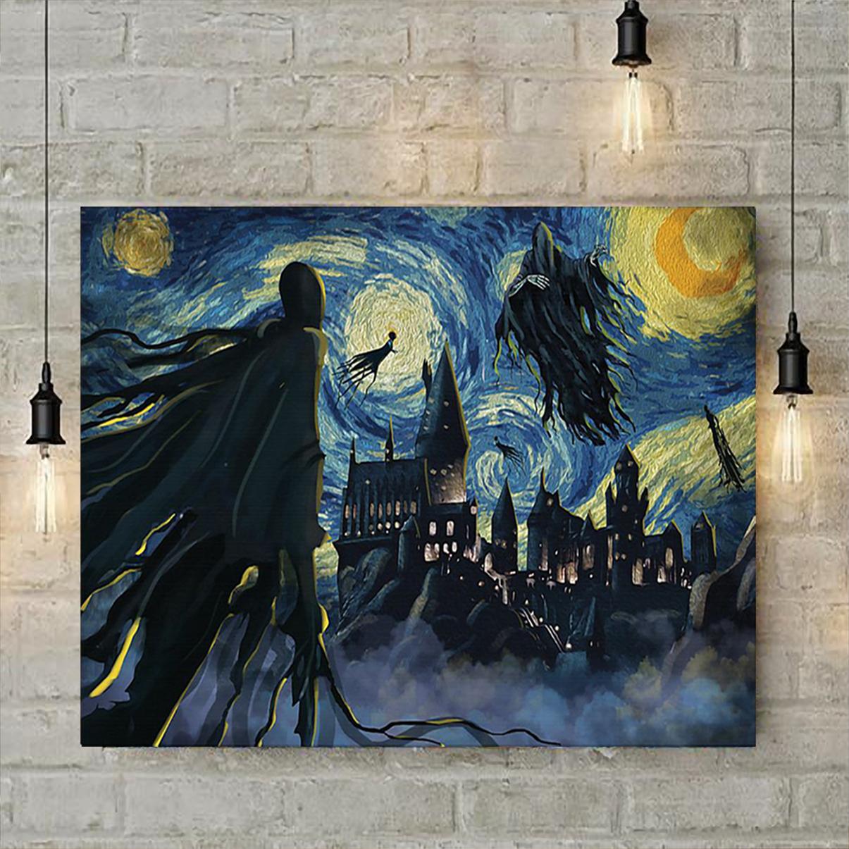 Dementor hogwarts starry night van gogh poster A1
