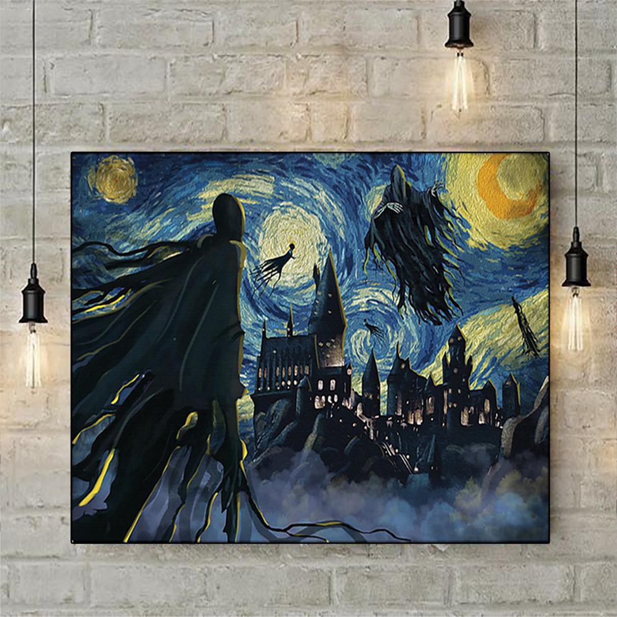 Dementor hogwarts starry night van gogh poster A2