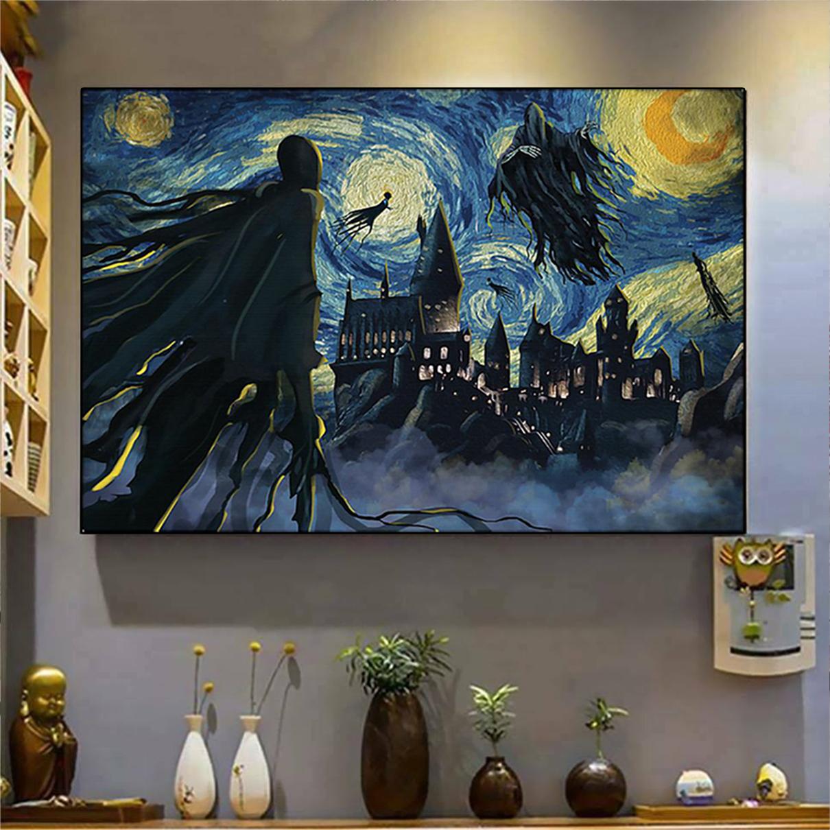 Dementor hogwarts starry night van gogh poster A3