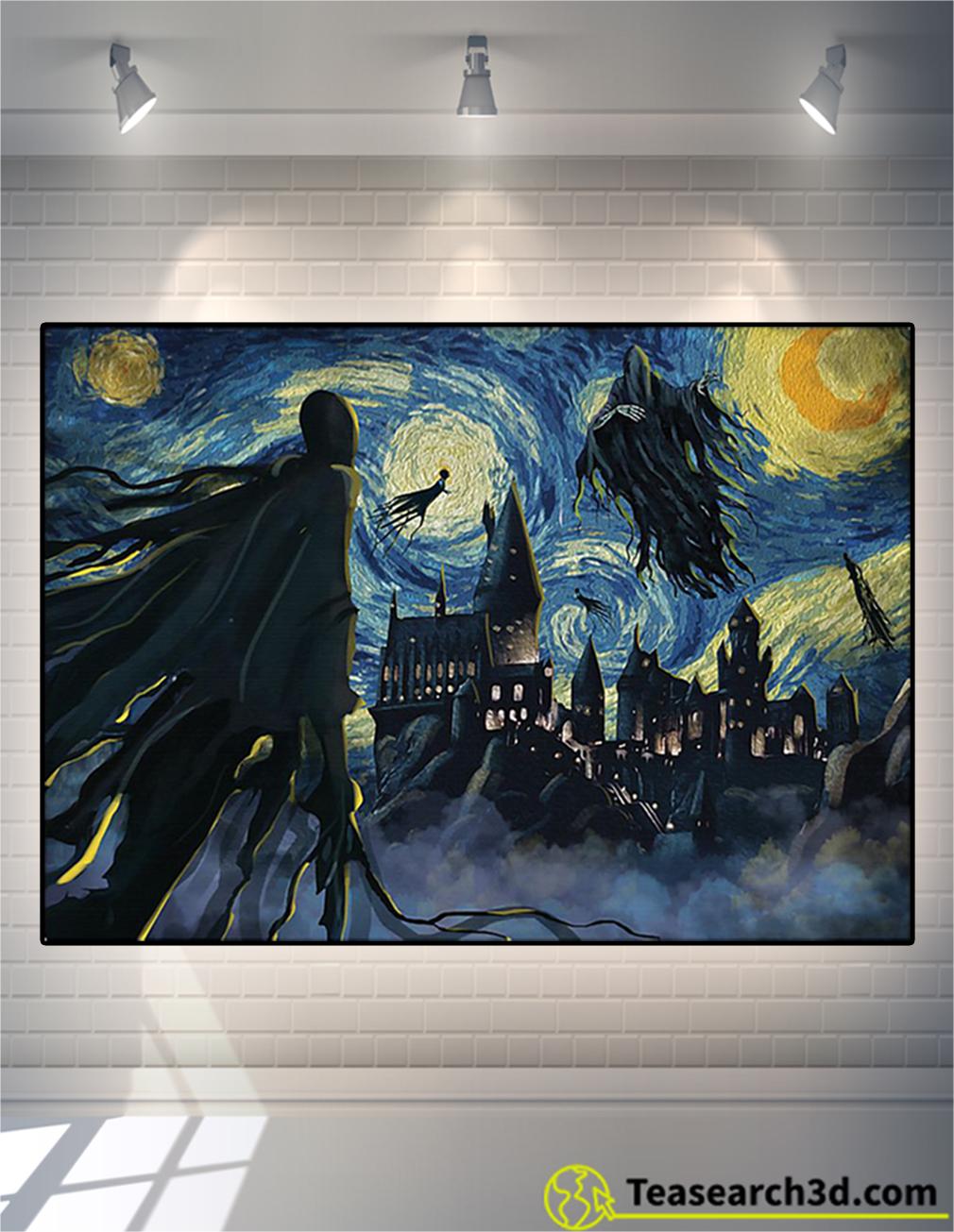 Dementor hogwarts starry night van gogh poster