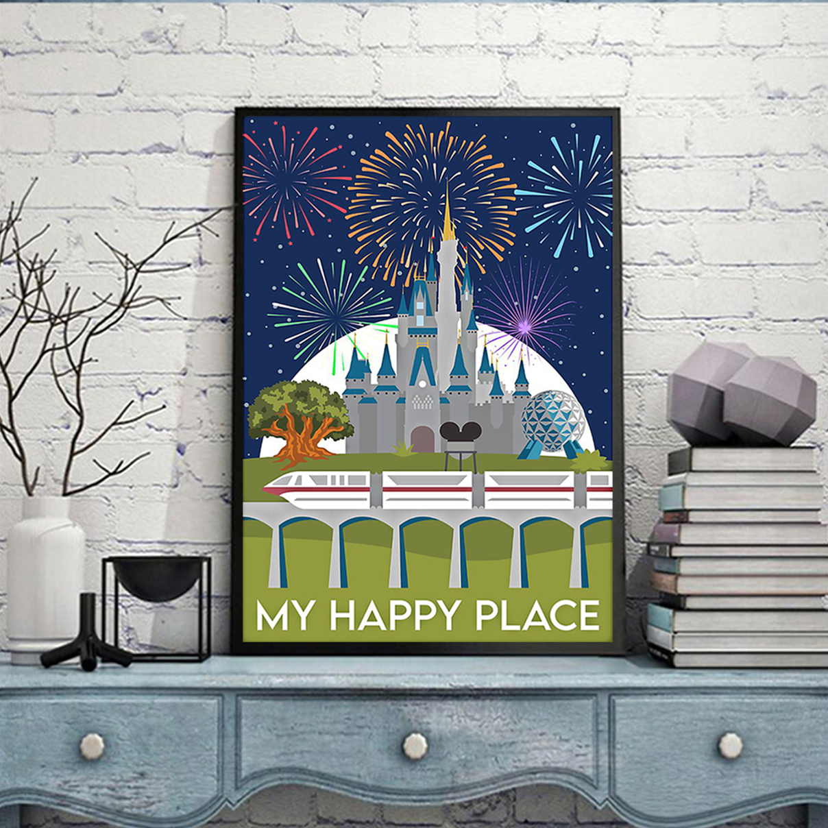 Disneyland My happy place poster A1