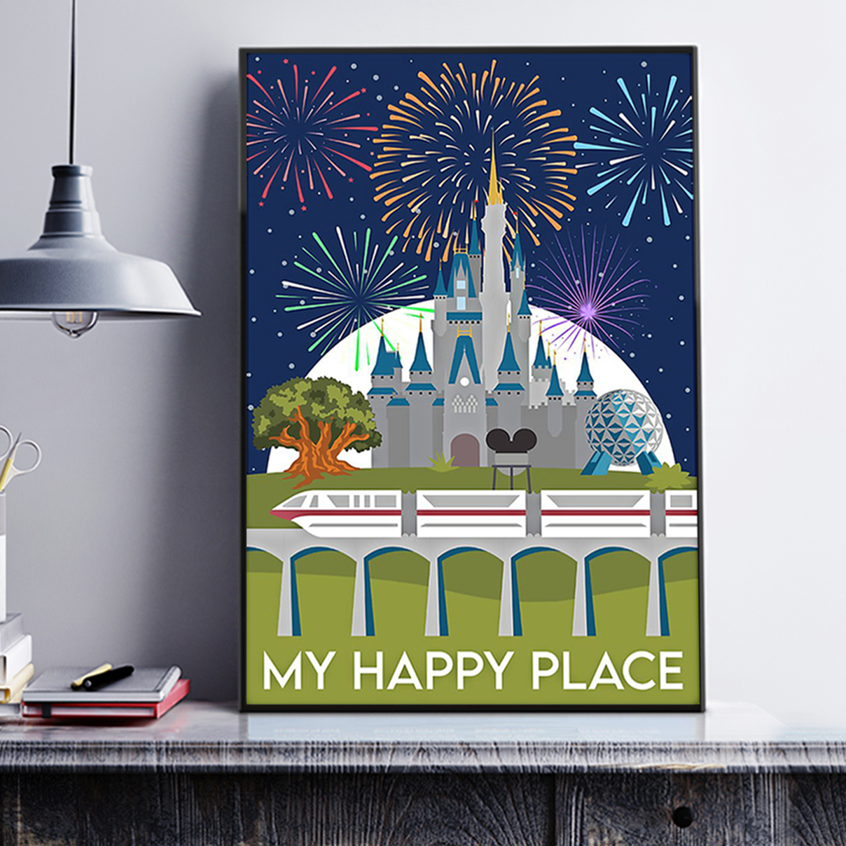 Disneyland My happy place poster A2