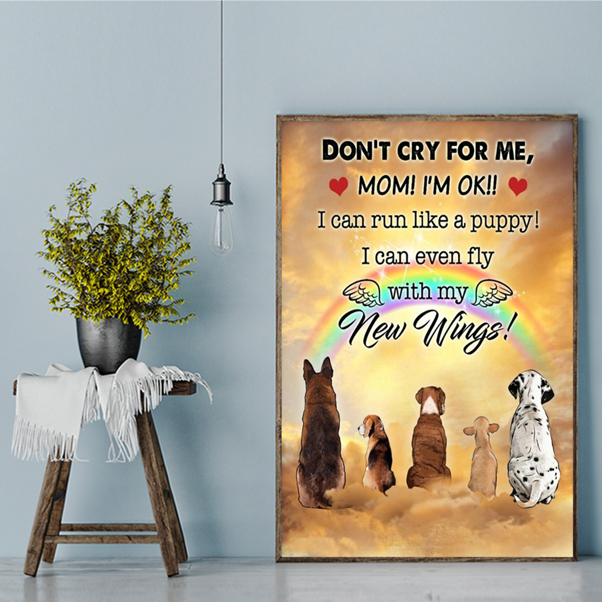 Dog don't dry for me mom canvas prints large
