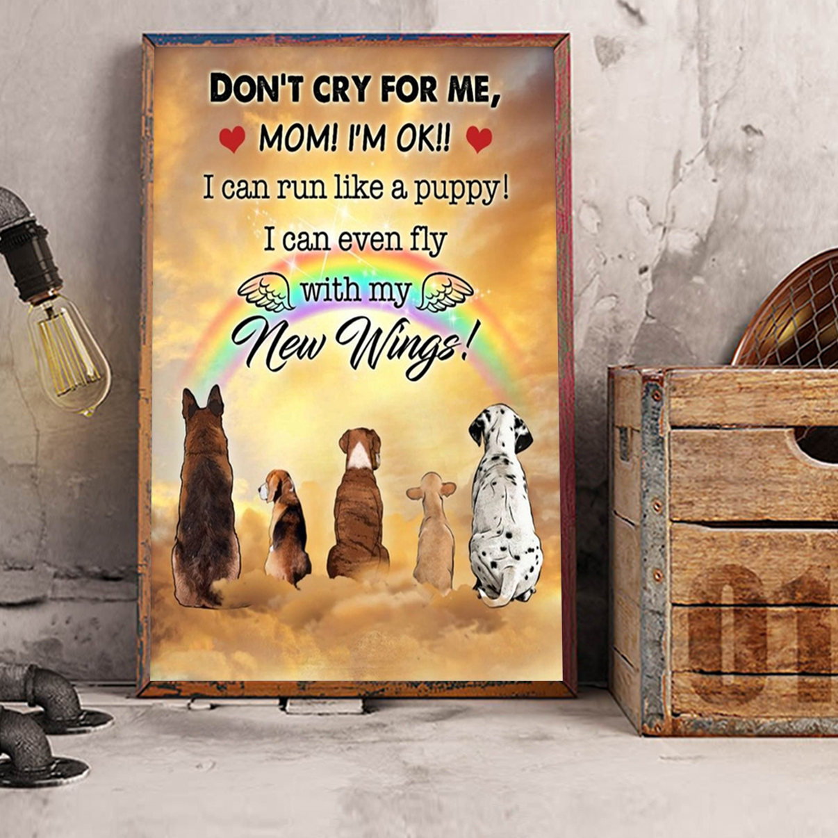 Dog don't dry for me mom canvas prints medium