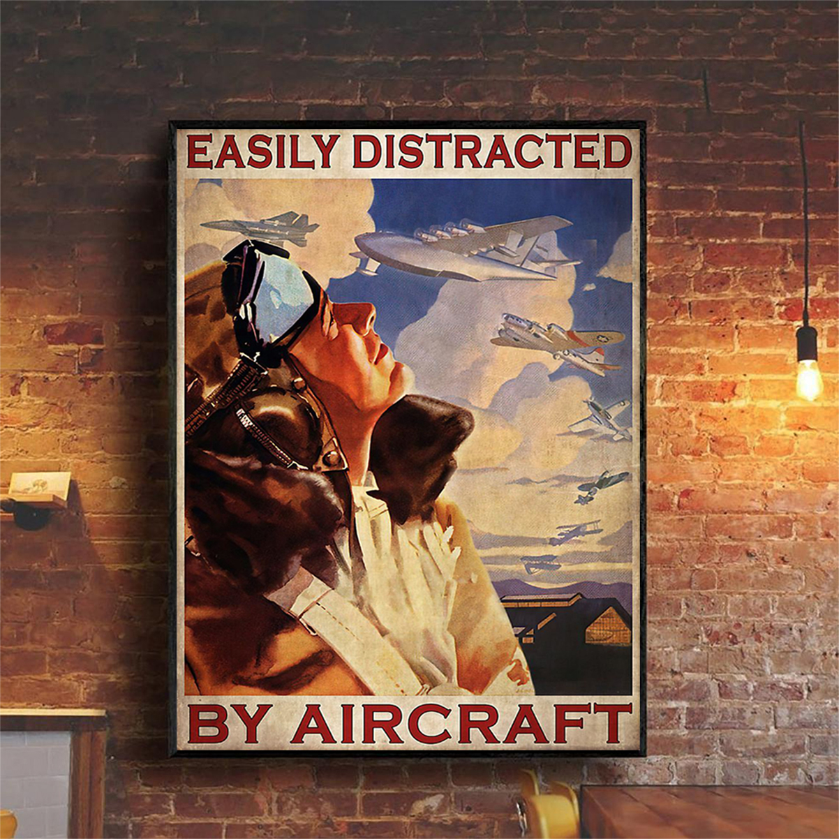Easily distracted by aircraft poster A2