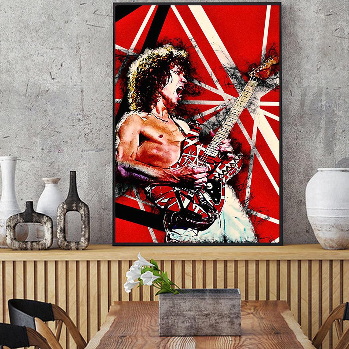 Eddie van halen guitar poster A2