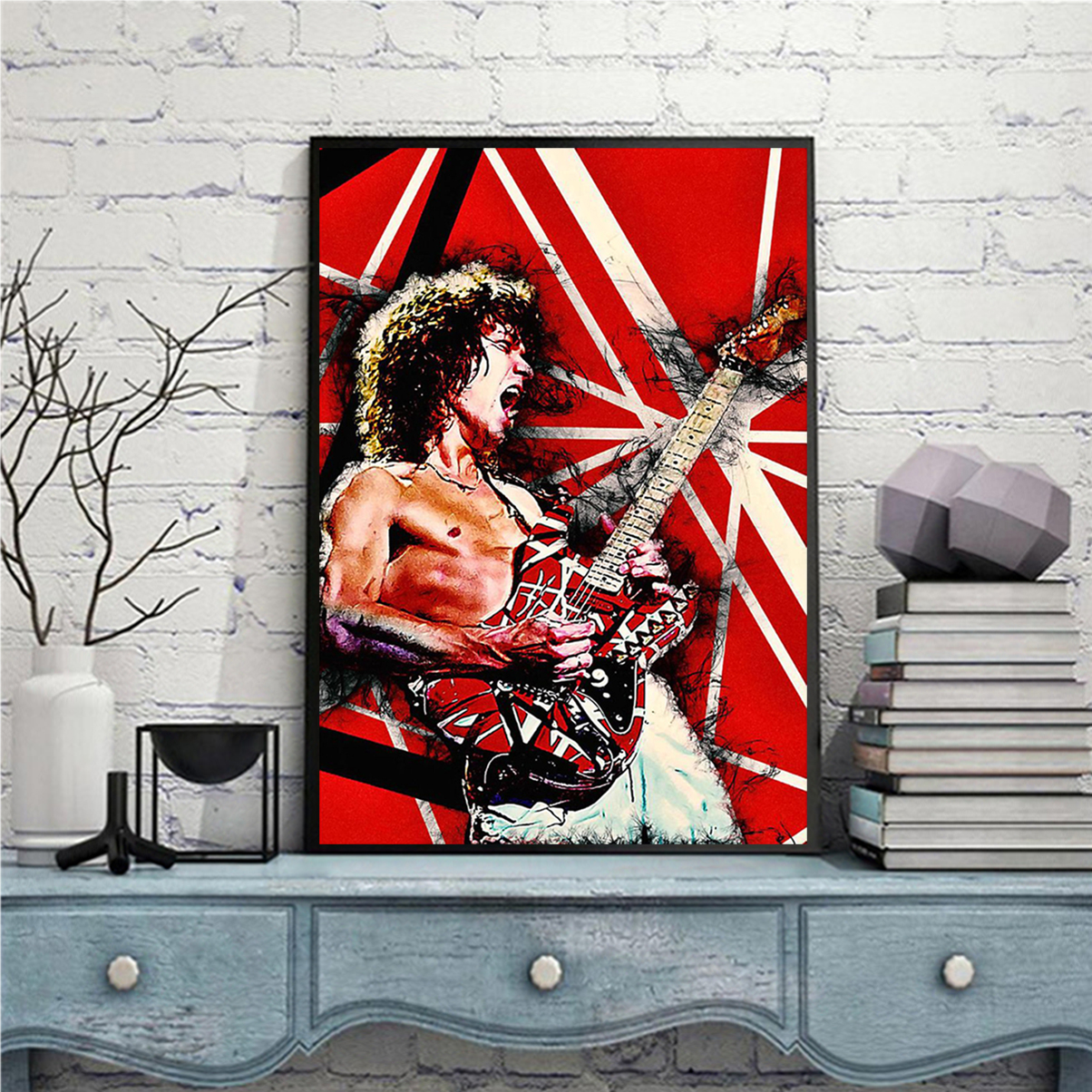 Eddie van halen guitar poster A3