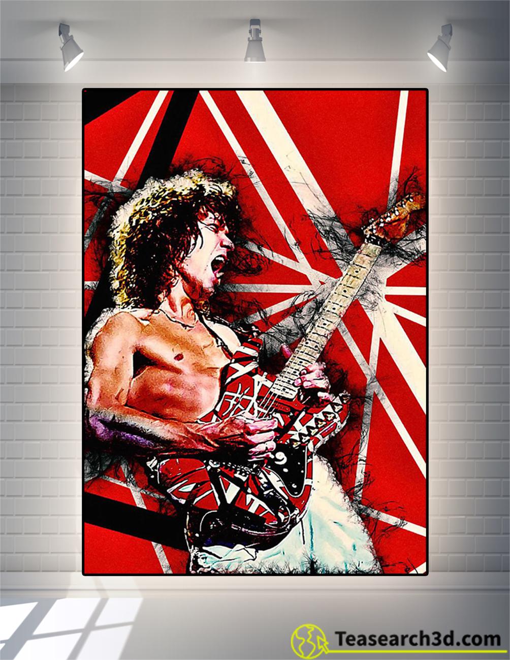 Eddie Guitar Poster Eddie Van Halen Guitar Art Poster