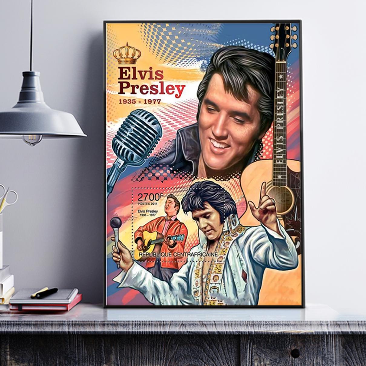 Evis presley king of RnR poster A2