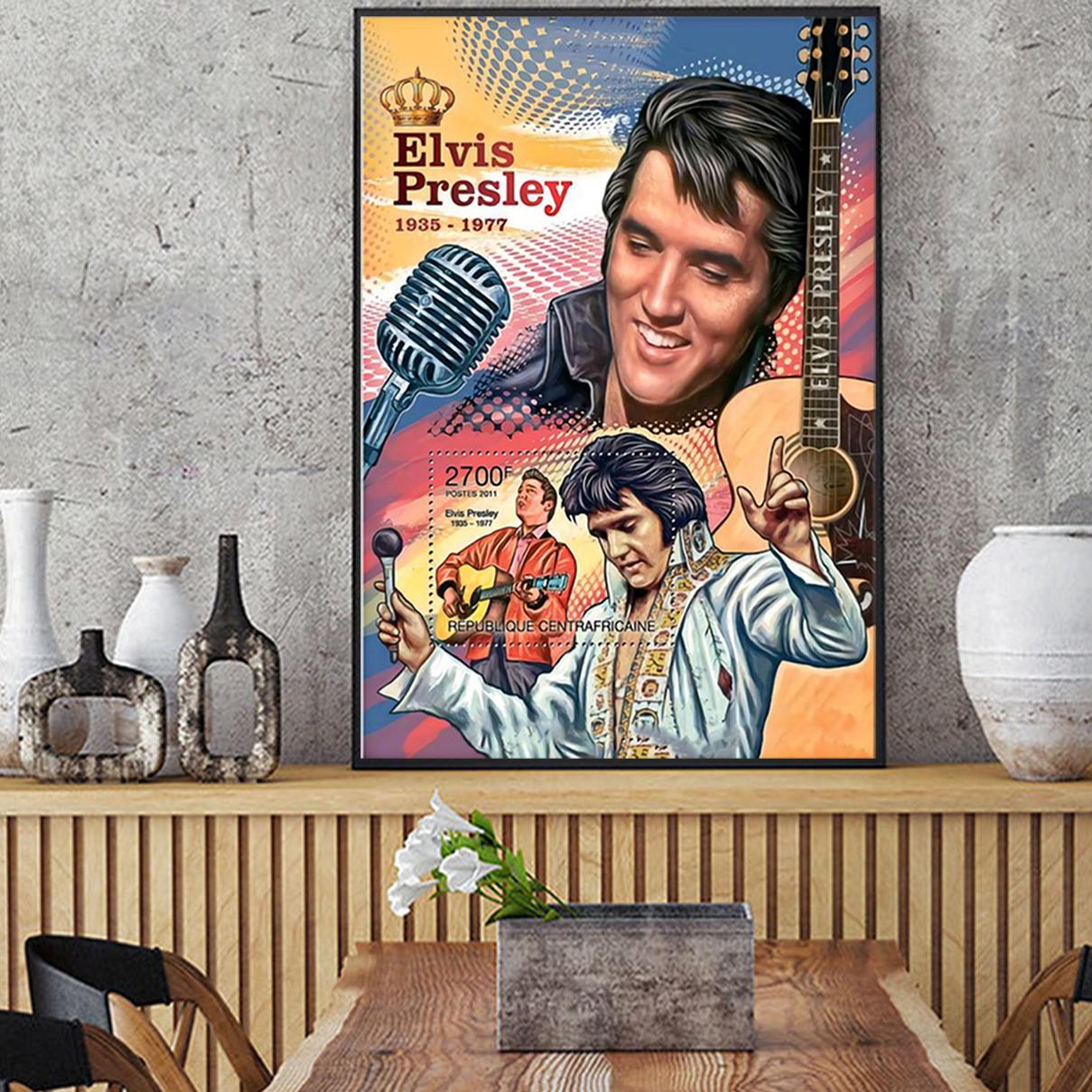 Evis presley king of RnR poster A3