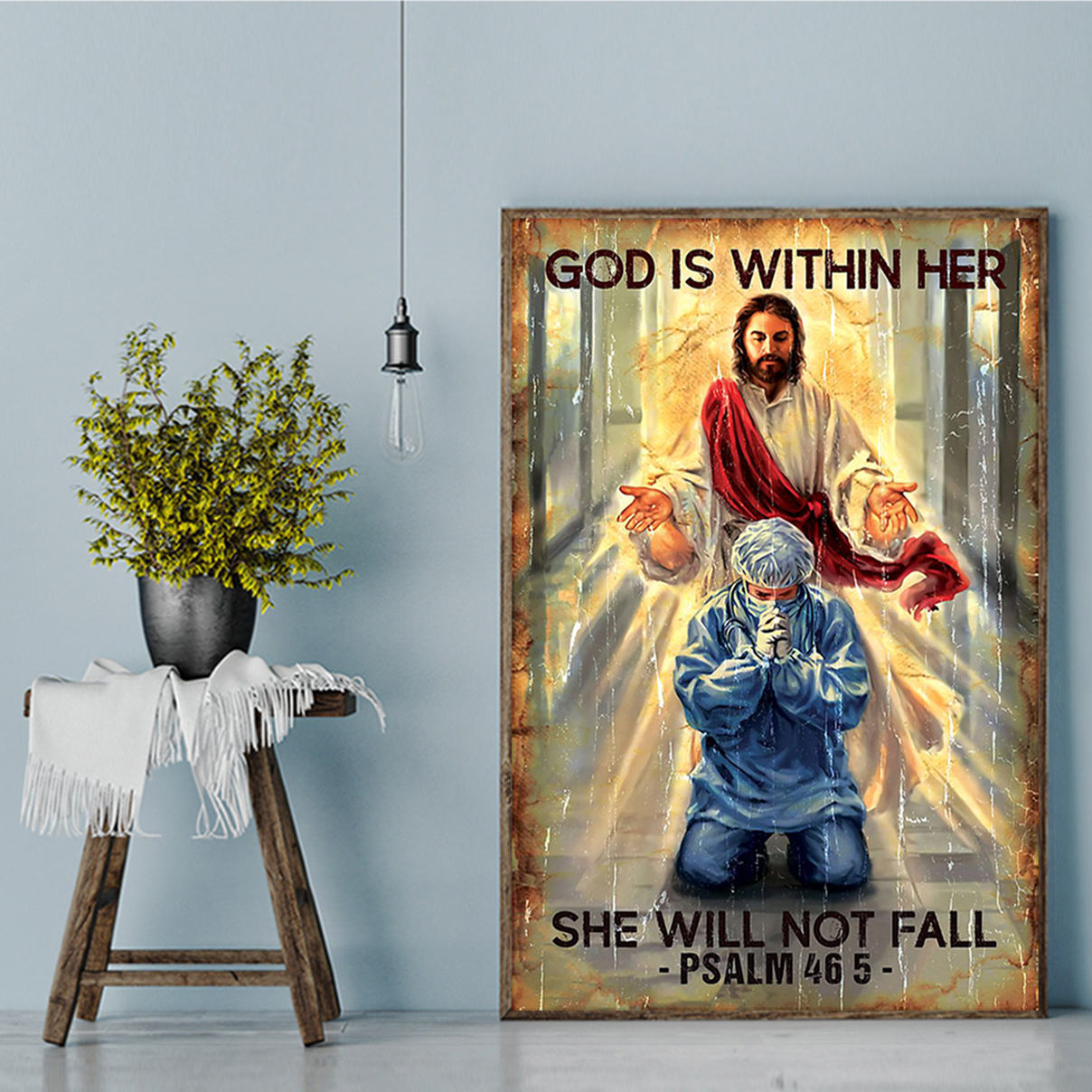 God is within her she will not fall poster A1