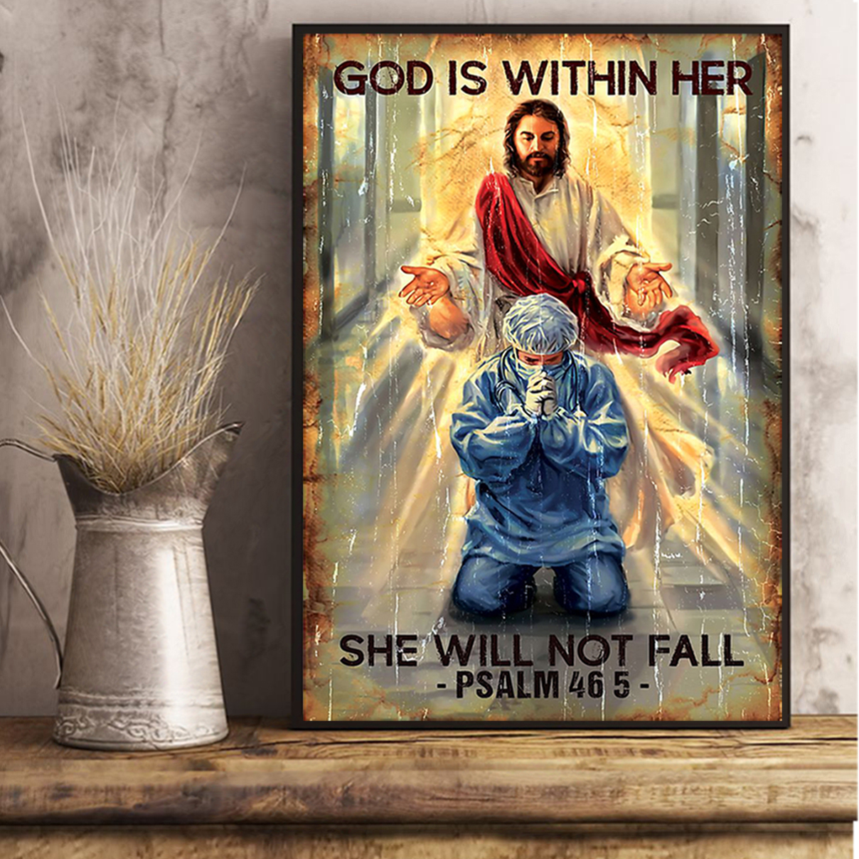 God is within her she will not fall poster A2