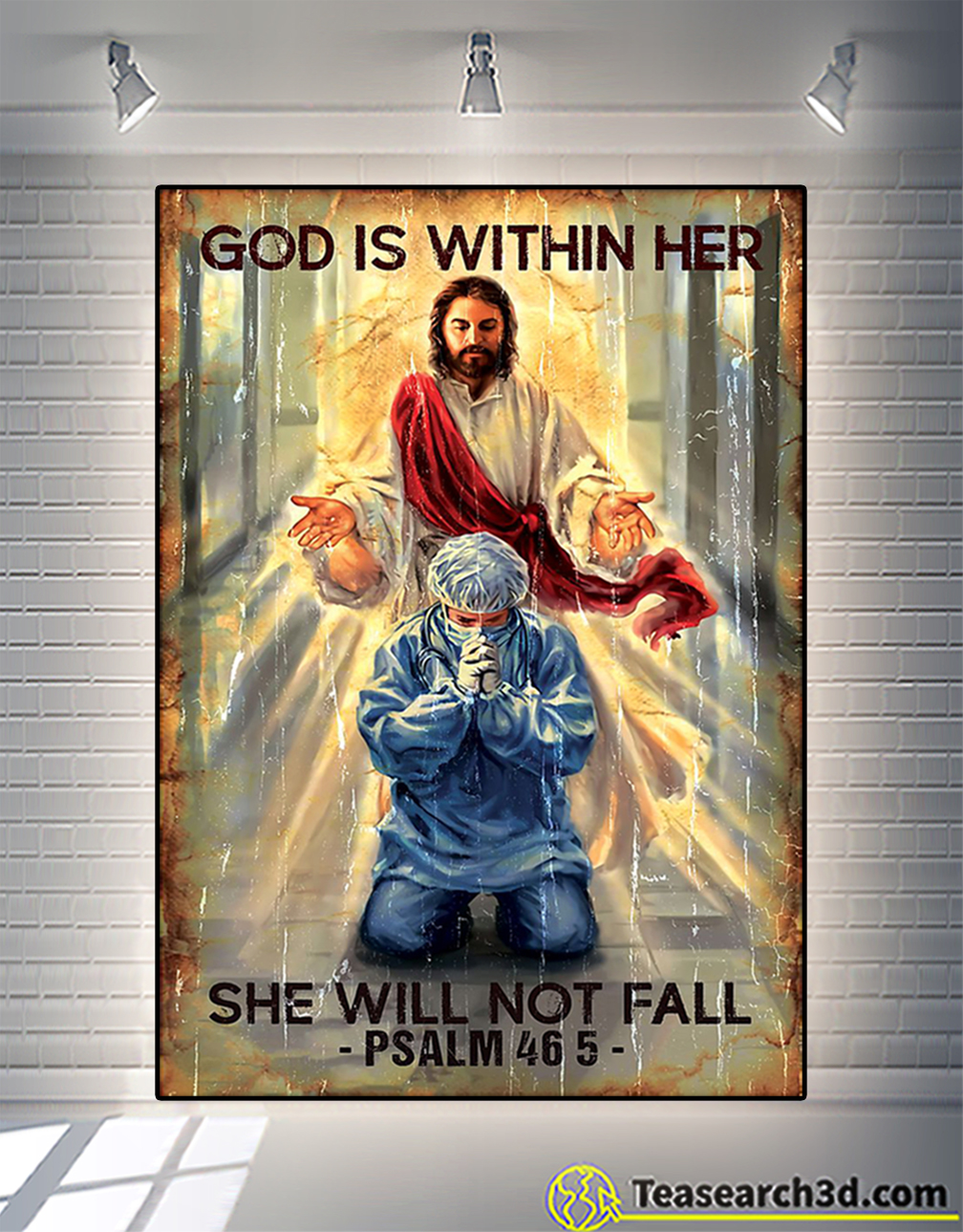 God is within her she will not fall poster