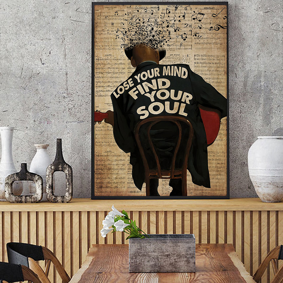 Jazz artist lose your mind find your soul poster A2