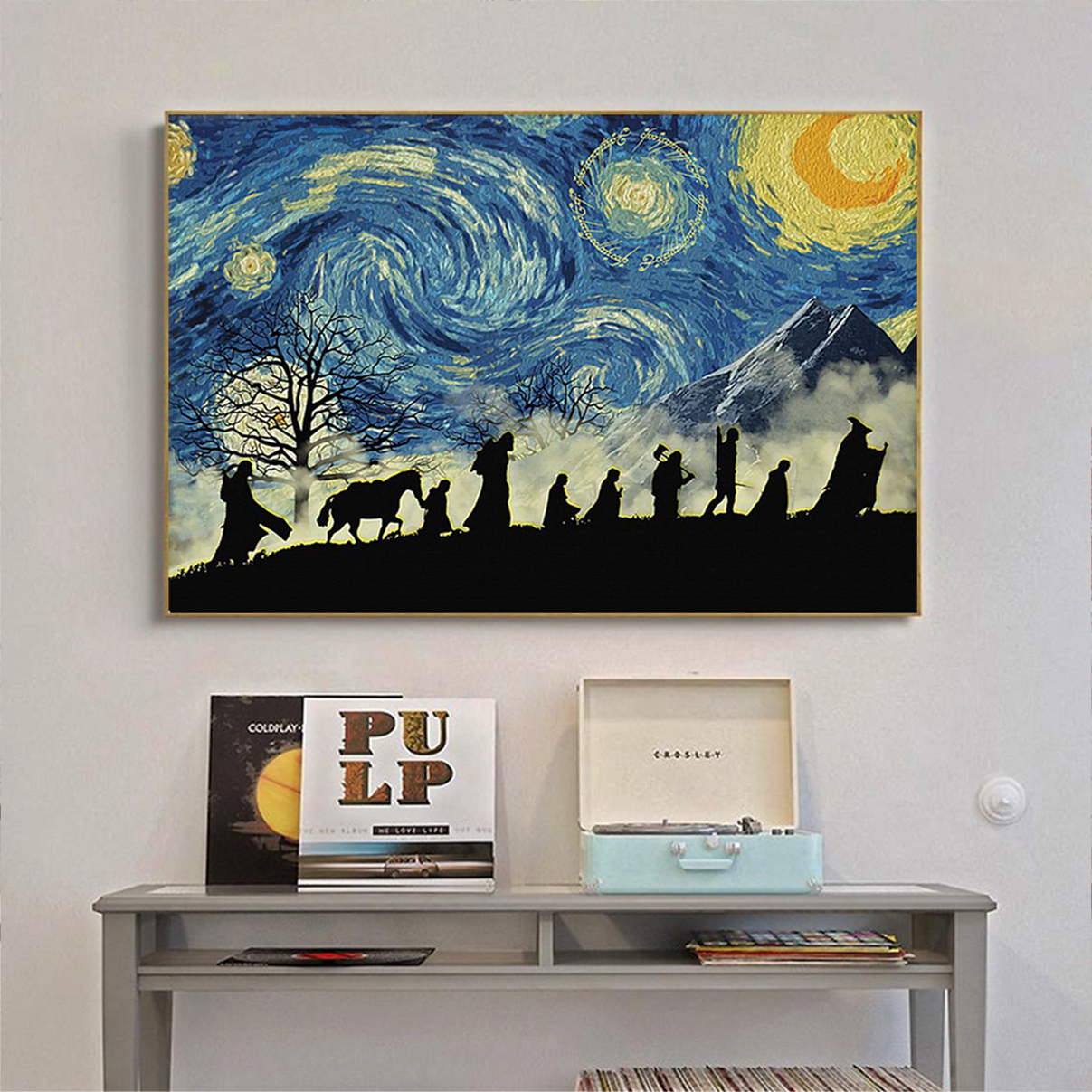 Lord Of The Rings Starry Night Van Gogh Poster A2