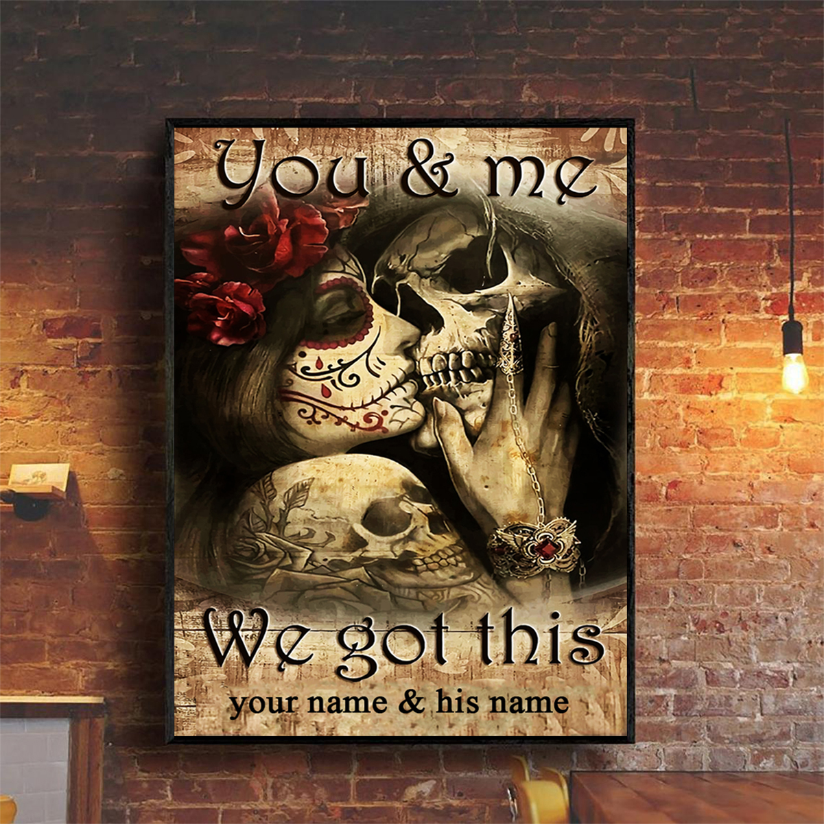 Personalized jack and sally you and me we got this poster A2