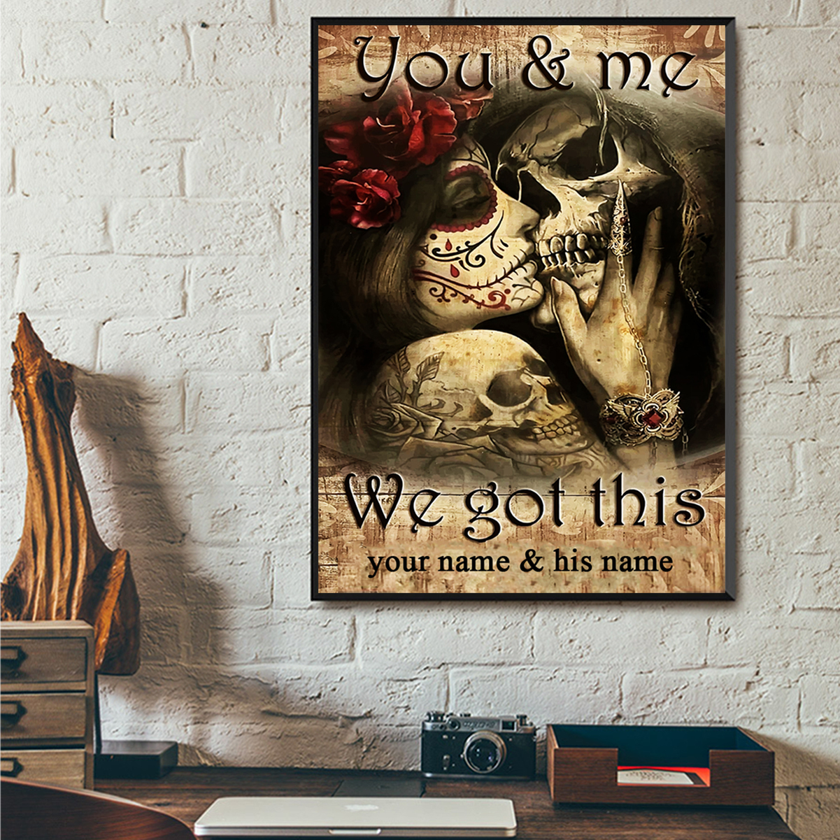 Personalized jack and sally you and me we got this poster A3