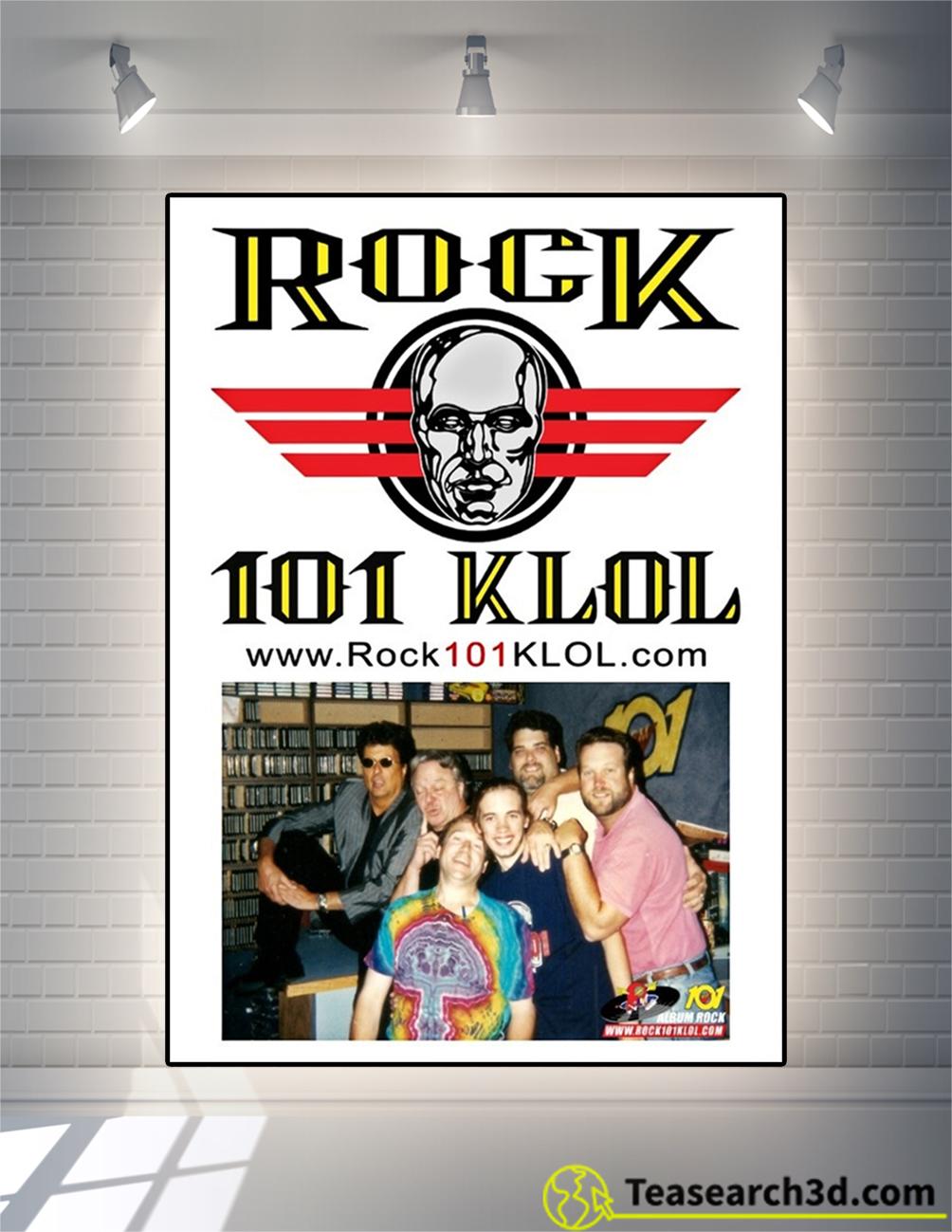 Rock 101 KLOL poster