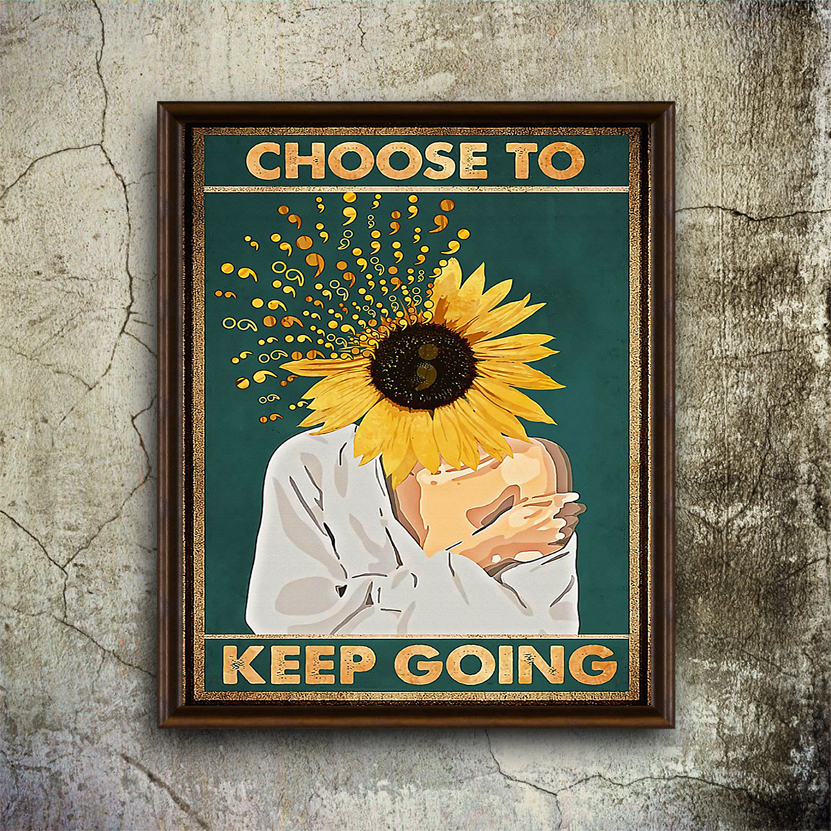 Suicide prevention choose to keep going poster A1
