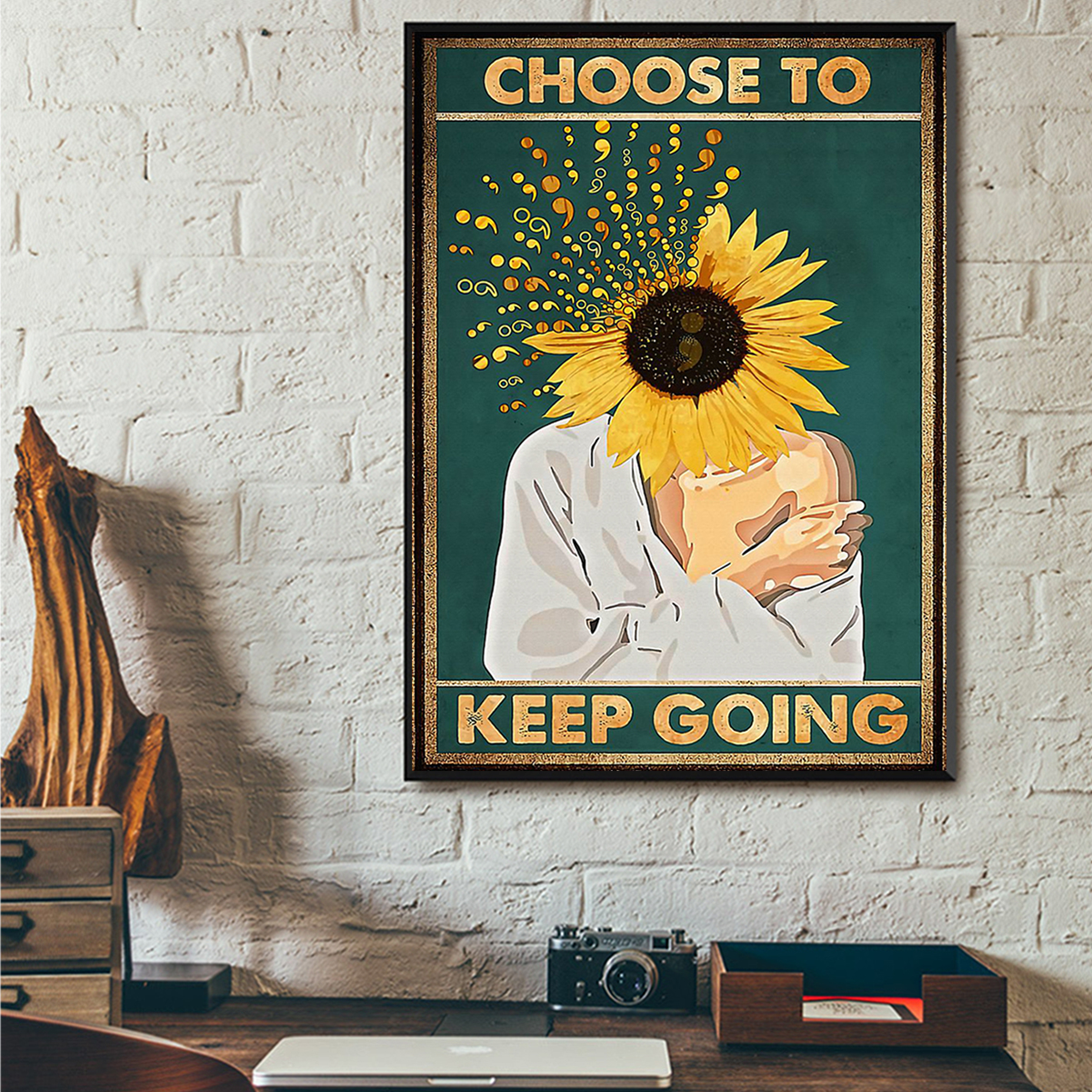 Suicide prevention choose to keep going poster A3