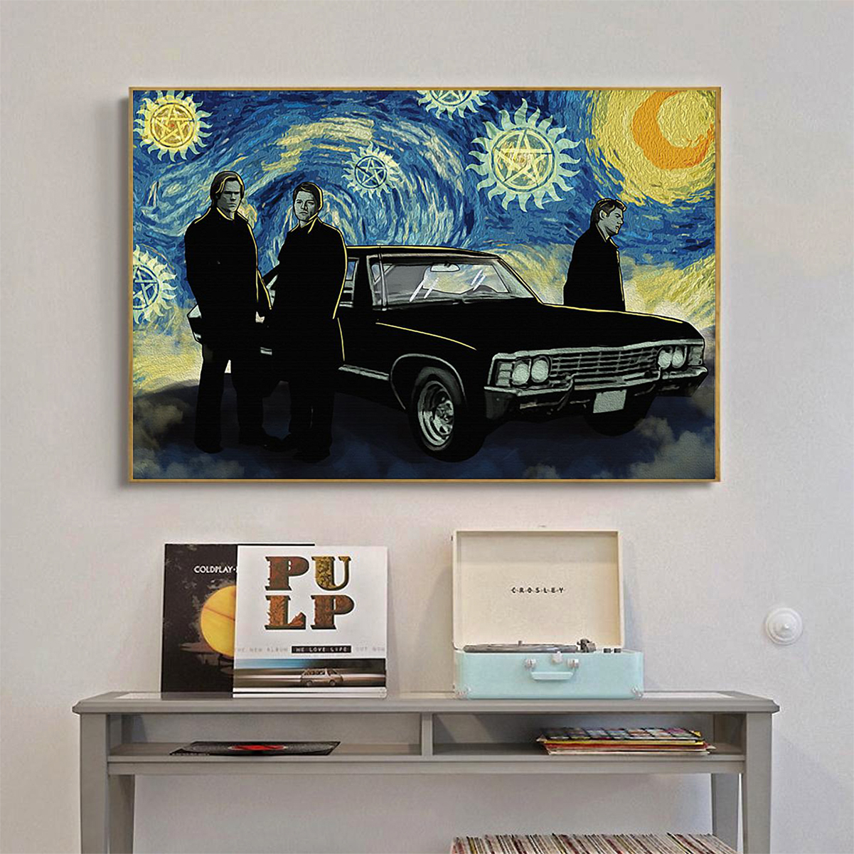Supernatural starry night van gogh poster A1