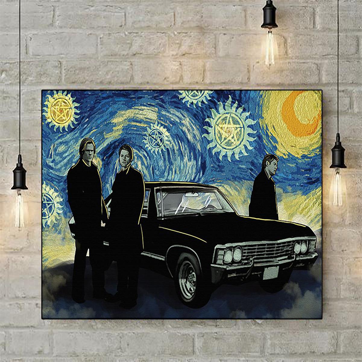 Supernatural starry night van gogh poster A2