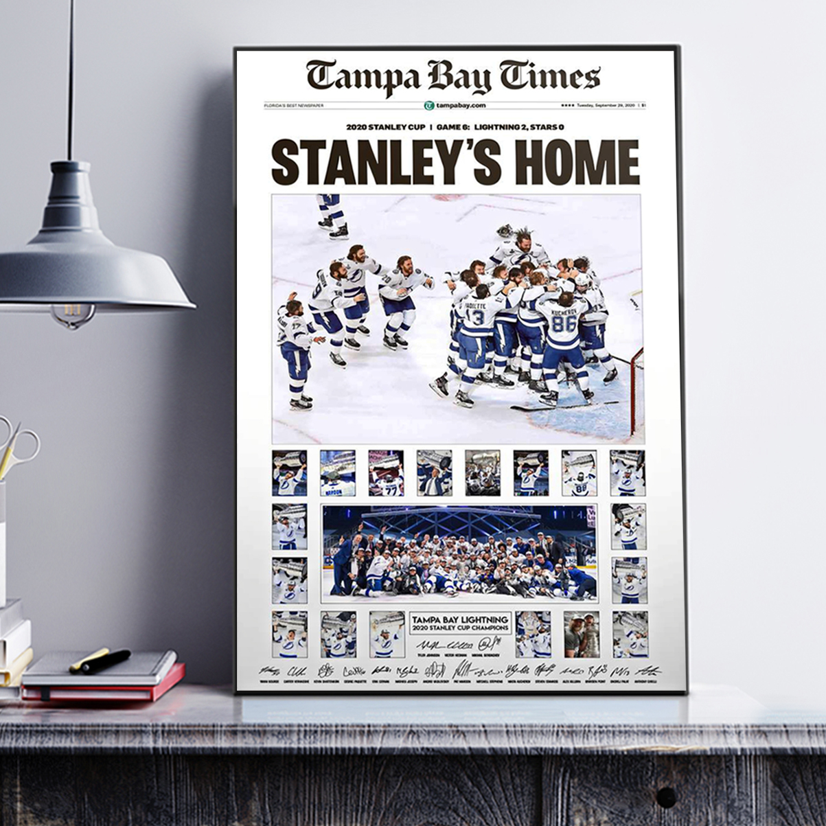 Tampa bay times stanley's home poster A1