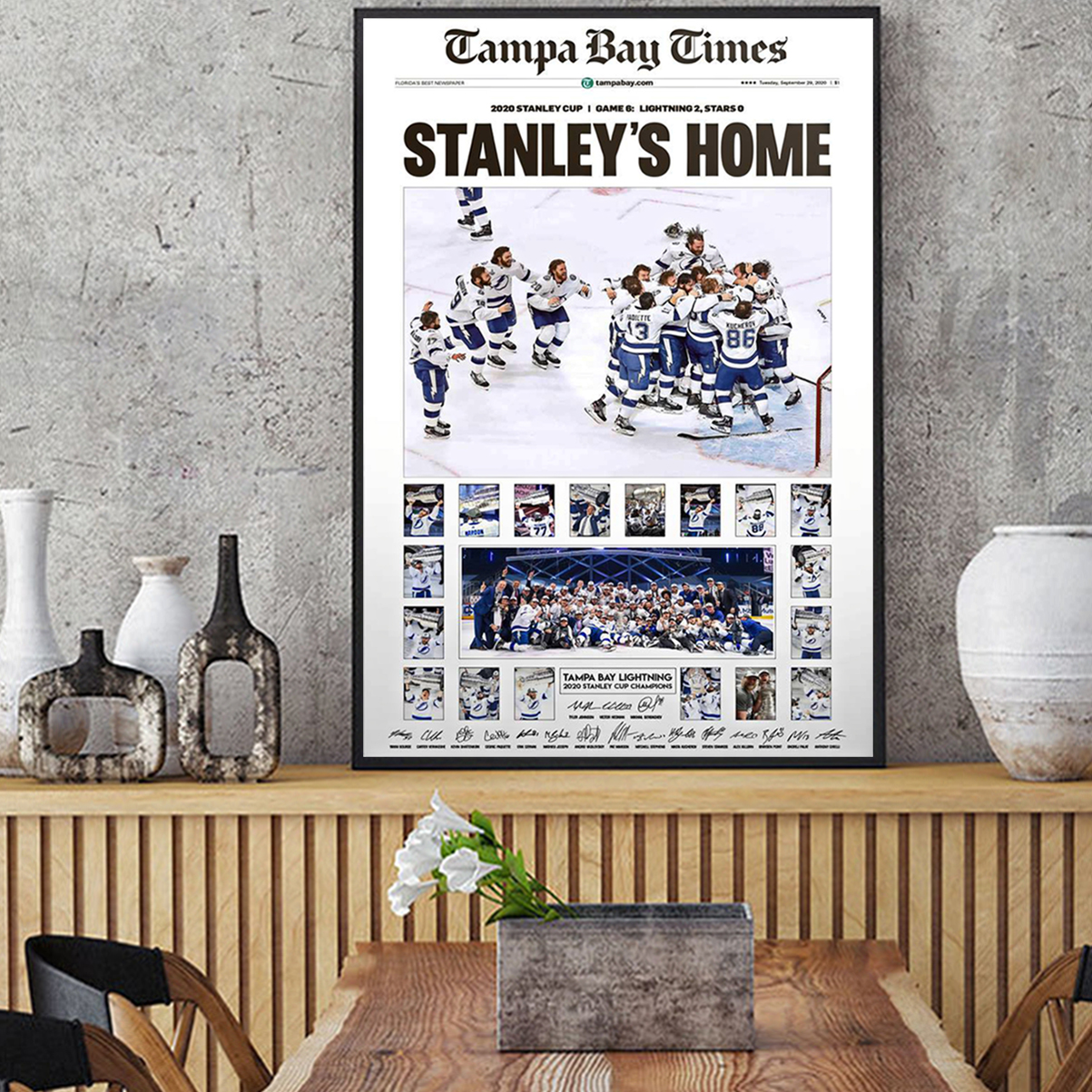 Tampa bay times stanley's home poster A2