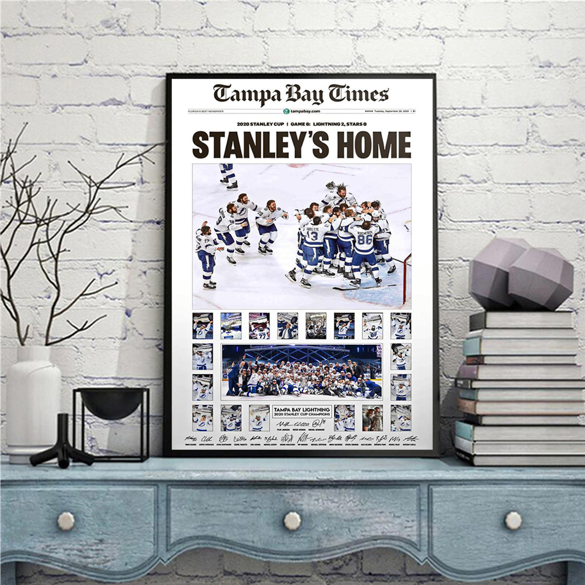 Tampa bay times stanley's home poster A3