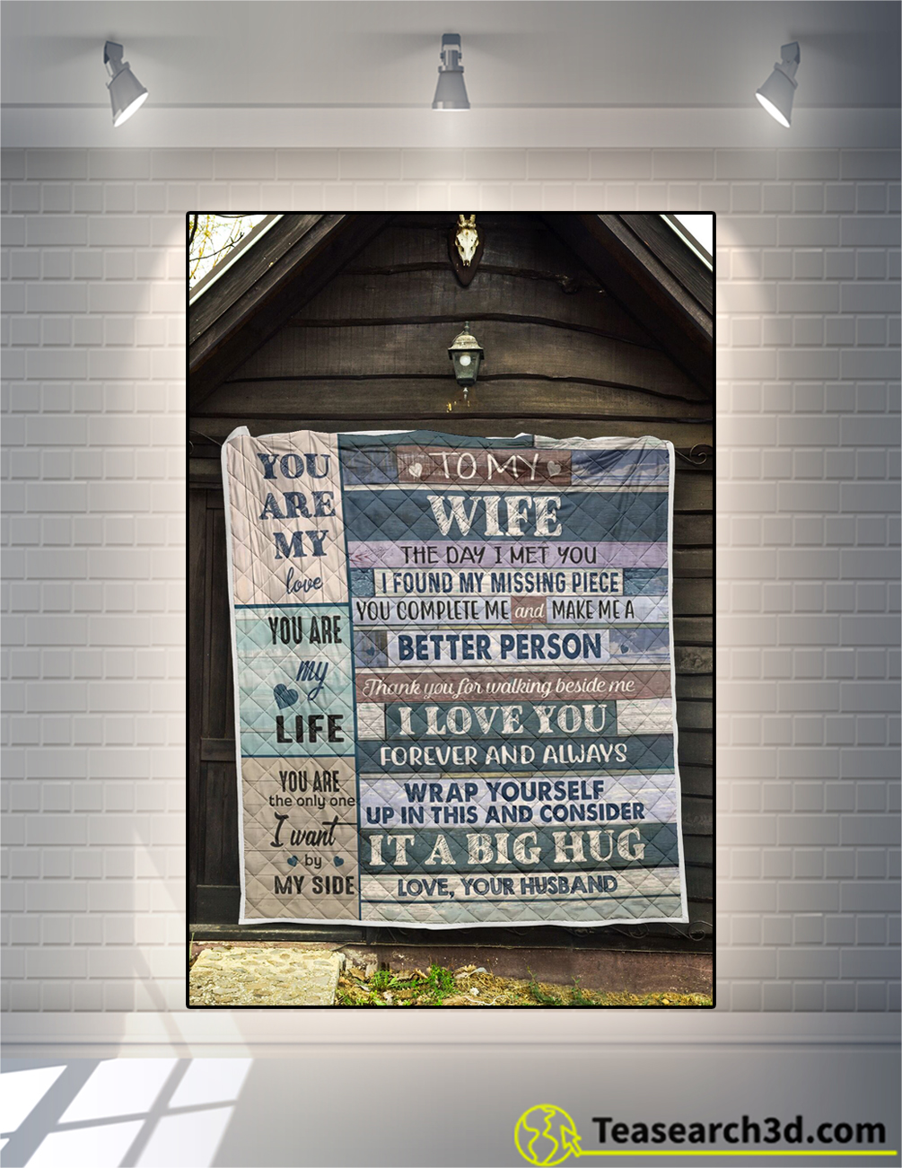To my wife the day I met you blanket x-large
