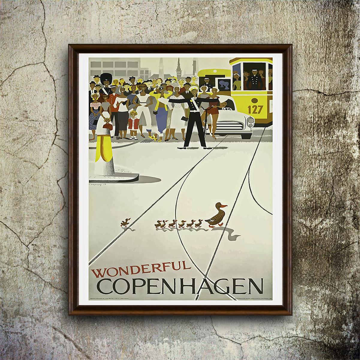 Vintage Wonderful copenhagen poster A1
