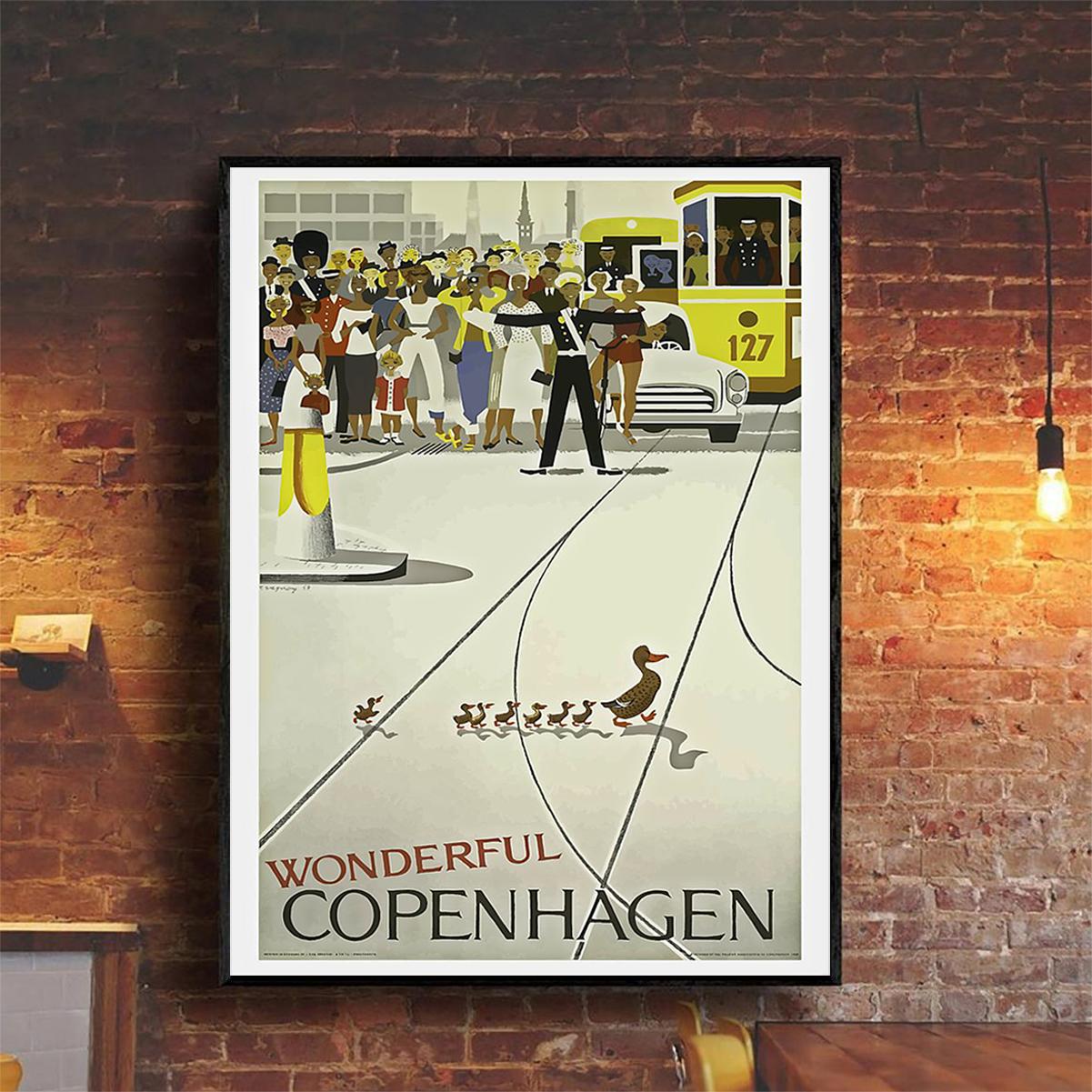 Vintage Wonderful copenhagen poster A2