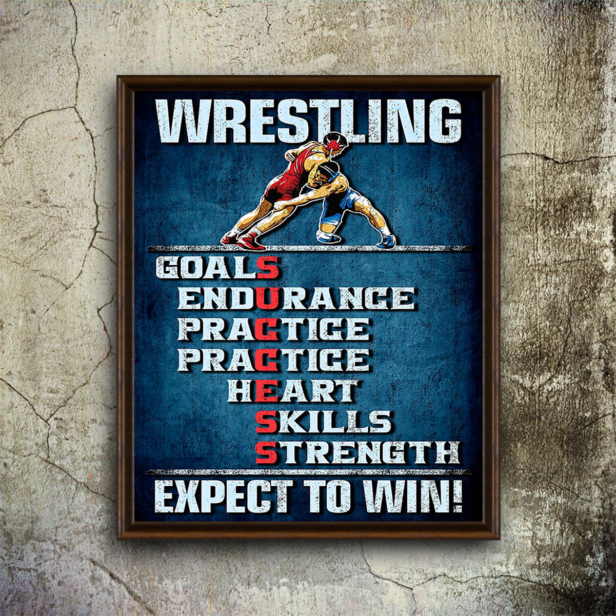 Wrestling expect to win poster A1